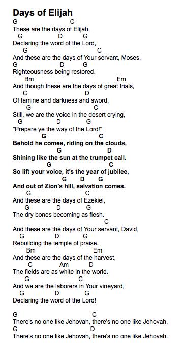 Days of Elijah - Easy Chord Worship Guitar