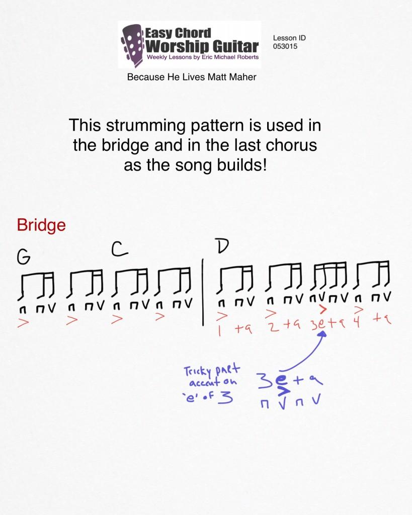 bridge strumming syncopation