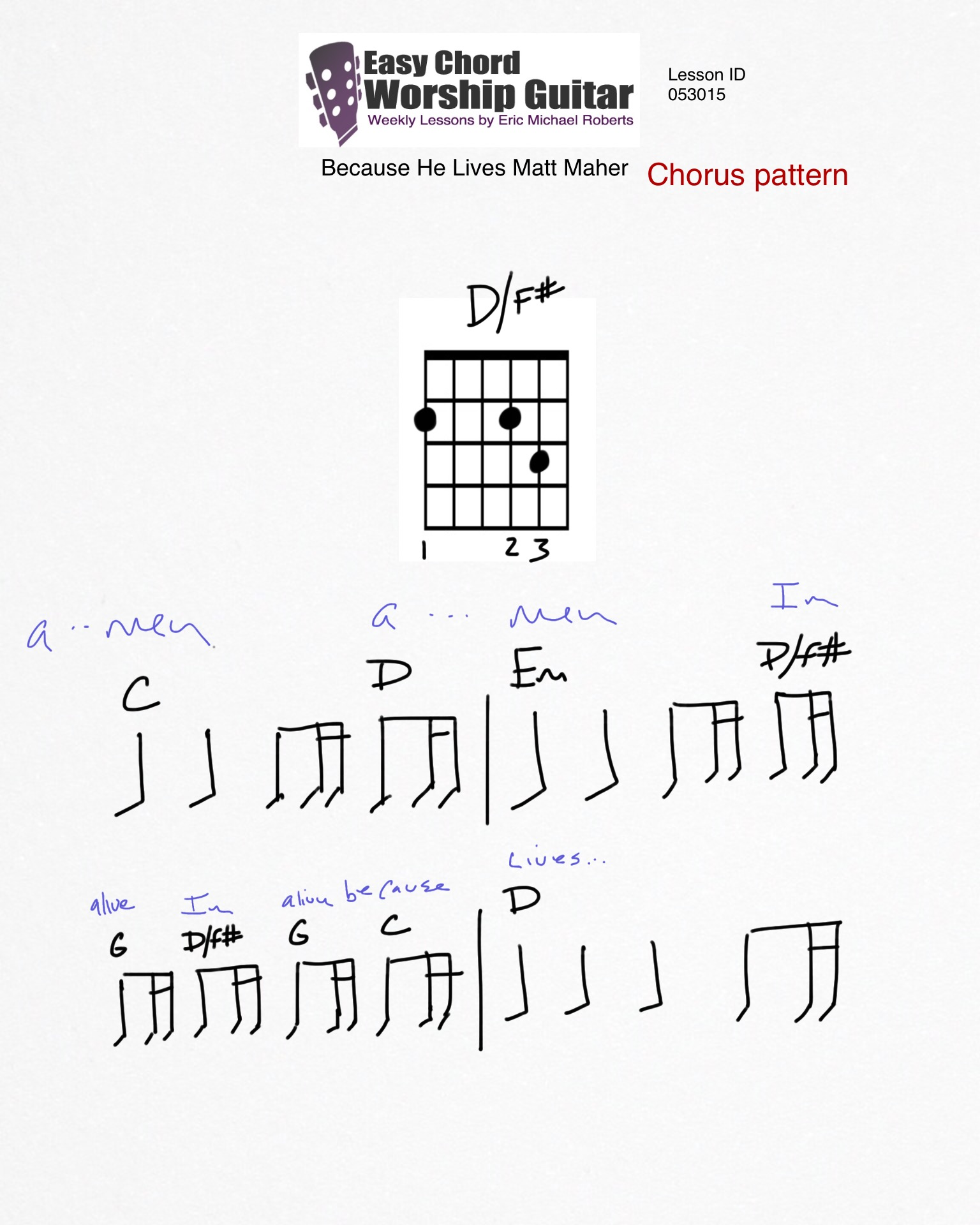 because he lives chords pdf