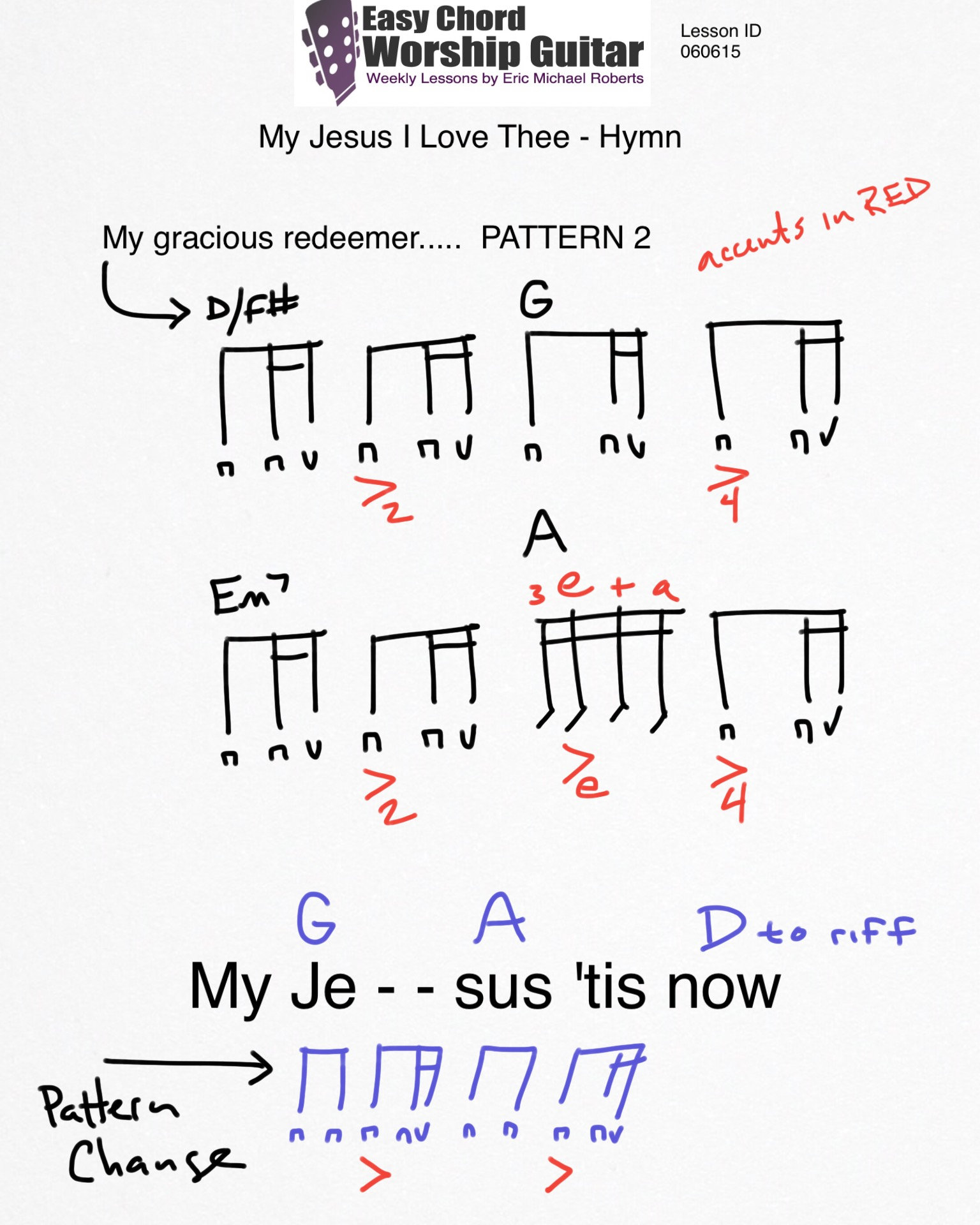 My Jesus I Love Thee Id 060615 Easy Chord Worship Guitar By Wtk