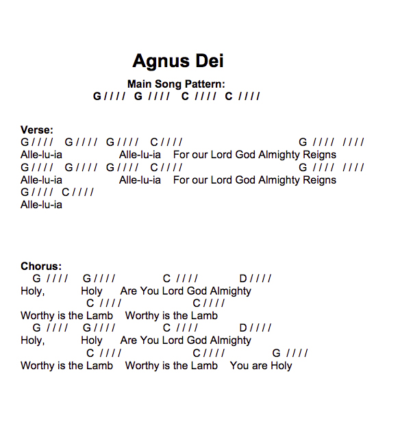Agnus Dei Lesson ID 072515 - Easy Chord Worship Guitar