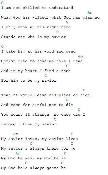 My Savior My God By Aaron Shust Lesson Id 071215 Easy Chord