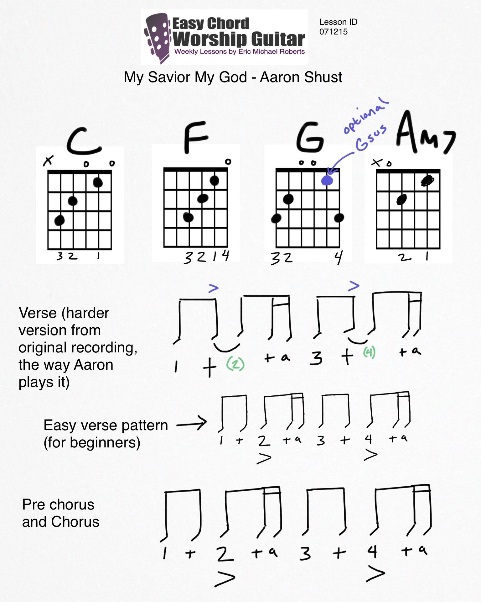 My savior my god by aaron shust lesson id 071215 easy chord chords used in the song hexwebz Choice Image